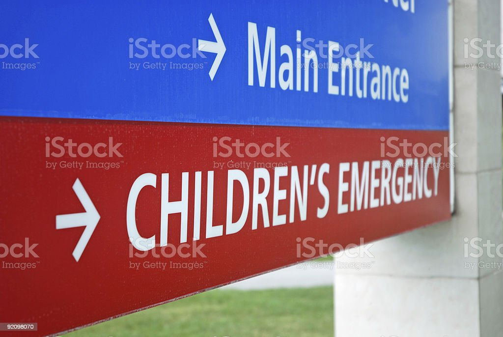 Children's Emergency Room Sign royalty-free stock photo