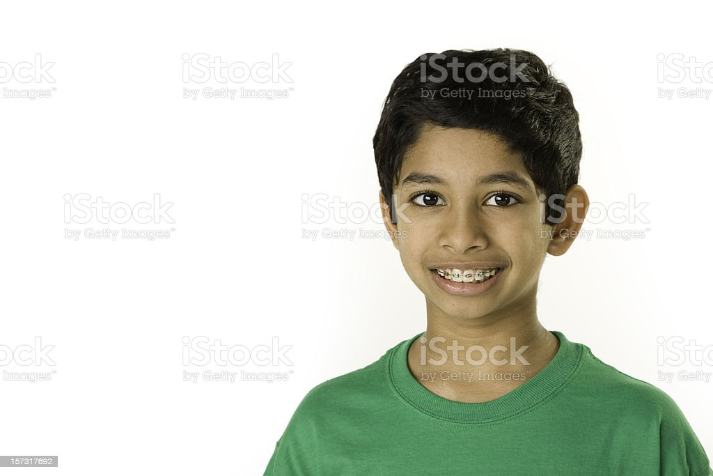 Childrens Faces of Diversity Braces stock photo