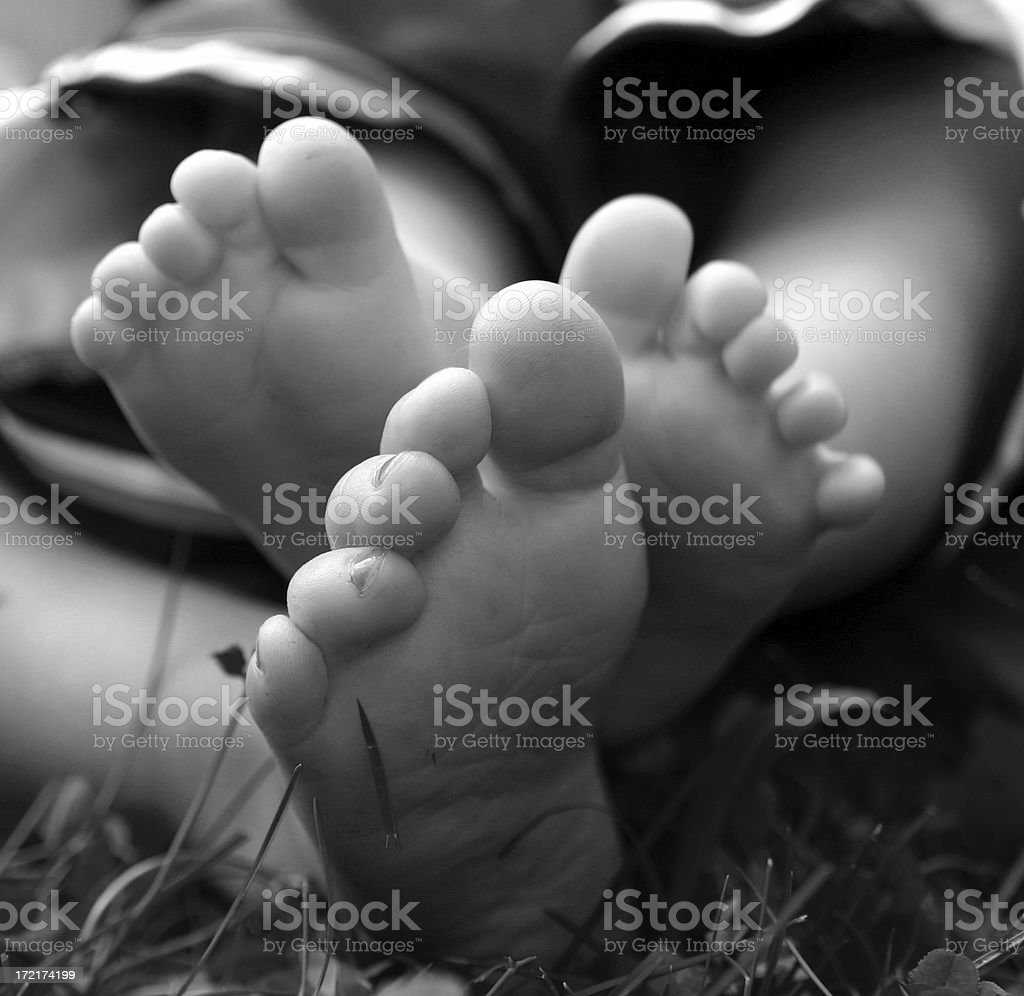 childrens feet royalty-free stock photo