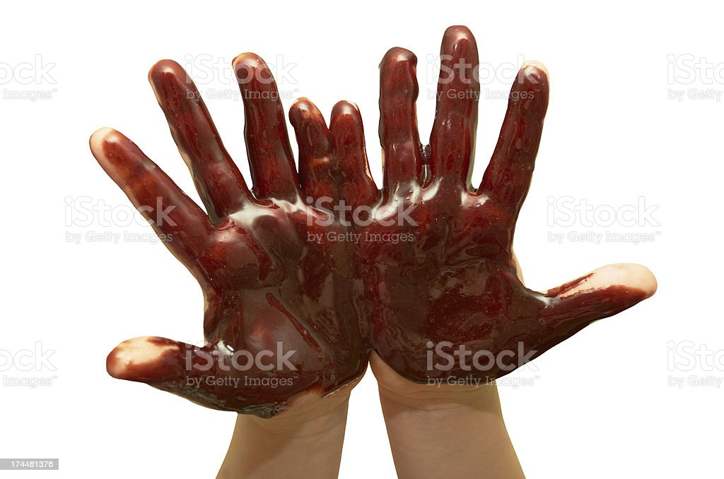 Children's hands stock photo