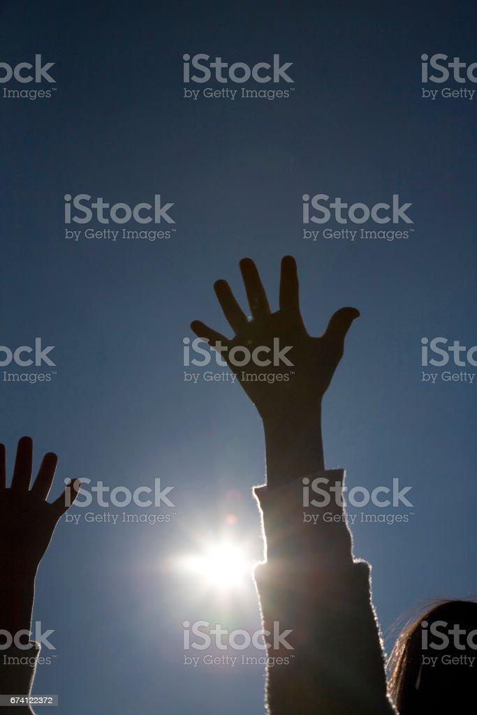 孩子的手 免版稅 stock photo