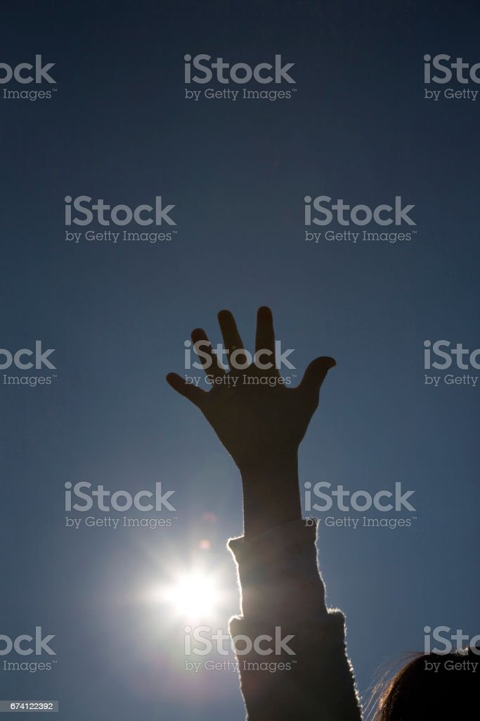 Children's hands royalty-free stock photo