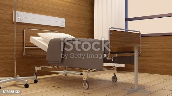 istock Children's hospital ward. Bottom view 827988132