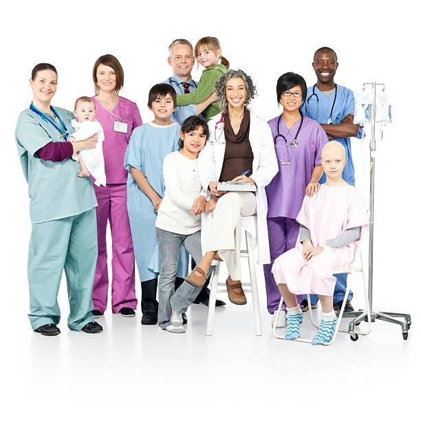 children's hospital with diversity (isolated) - hospital studio bildbanksfoton och bilder