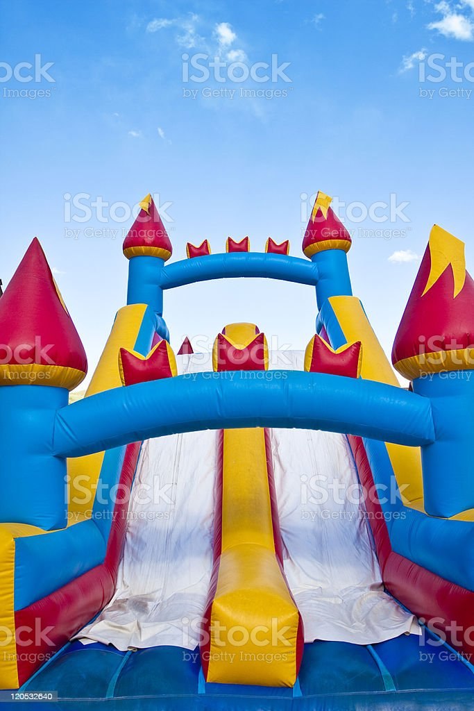 Children's Inflatable Castle Playground stock photo