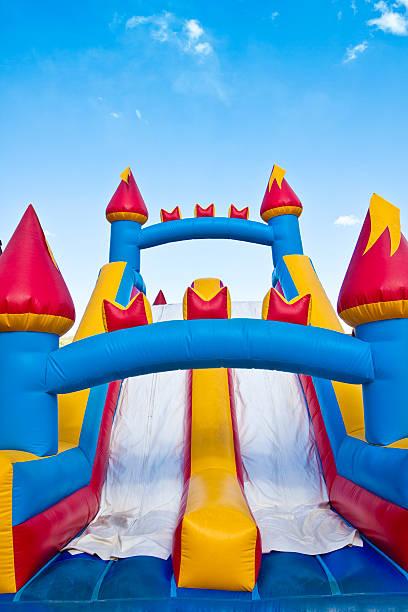 Children's Inflatable Castle Playground stock photo