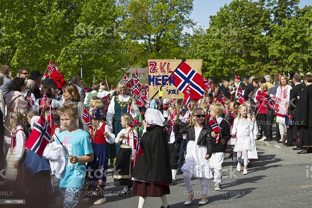 Desfile de crianças - fotografia de stock