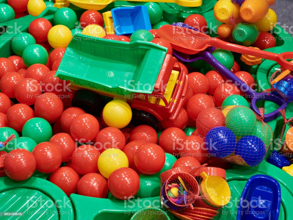 Childrens plastic toy stock photo