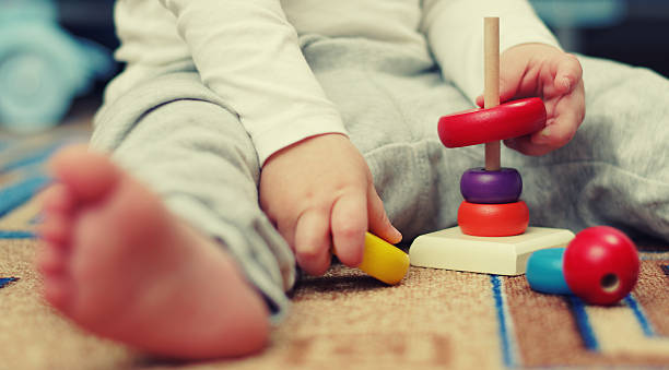 children's pyramid - preschool building stock photos and pictures