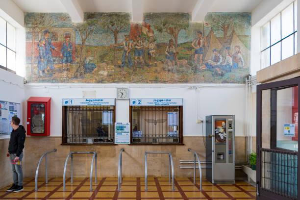 Children's Railway Station in Budapest stock photo