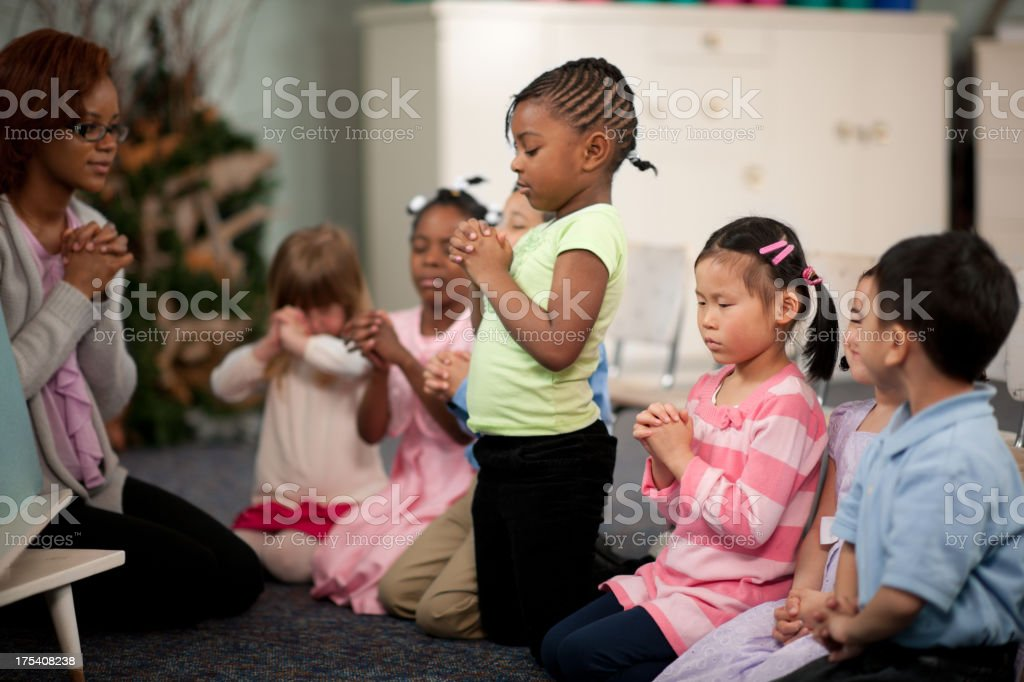 Children's religious program royalty-free stock photo