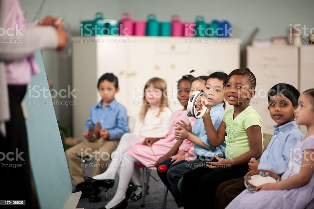 Childrens religious program royalty-free stock photo