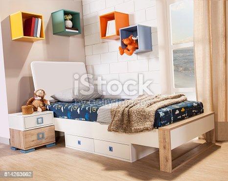 istock Children's room interior 814263662
