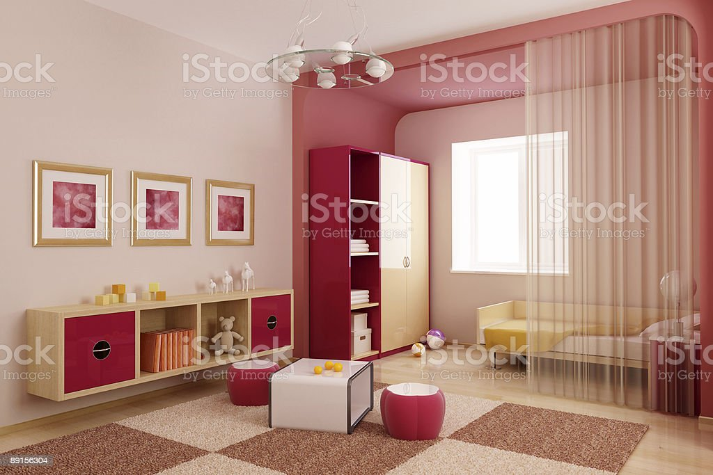children's room interior royalty-free stock photo