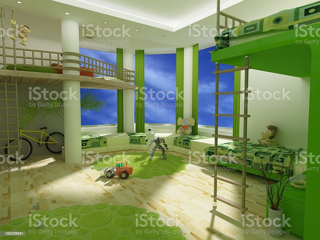 Children's room royalty-free stock photo