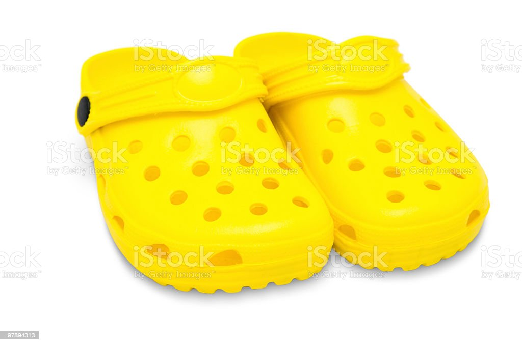 childrens rubber sandals royalty-free stock photo