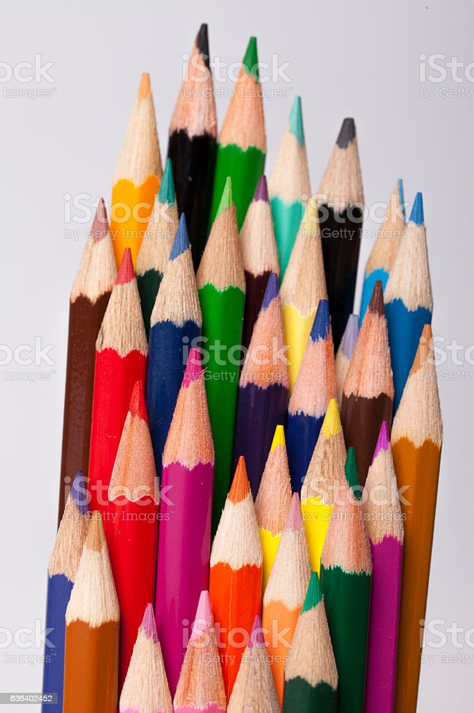 Children's school supplies stock photo