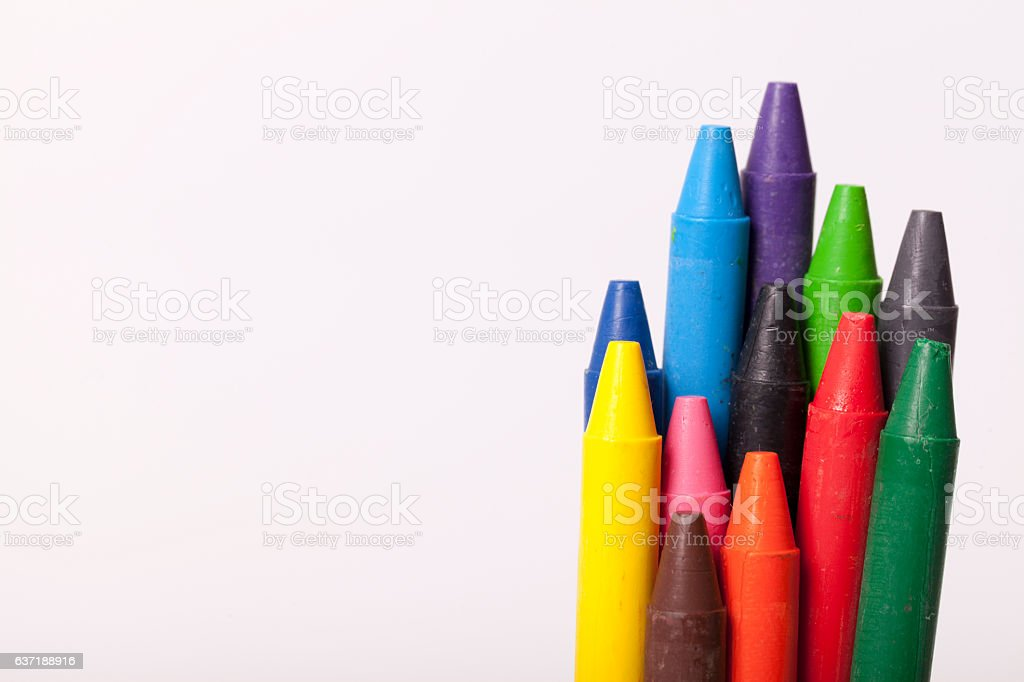 Childrens school supplies stock photo