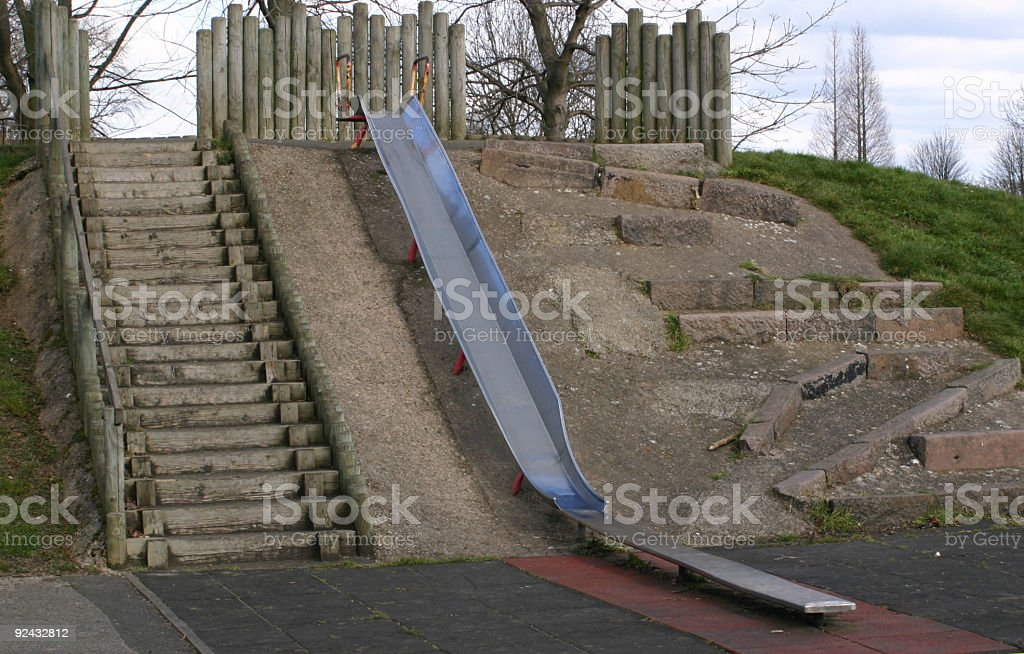 childrens slide royalty-free stock photo