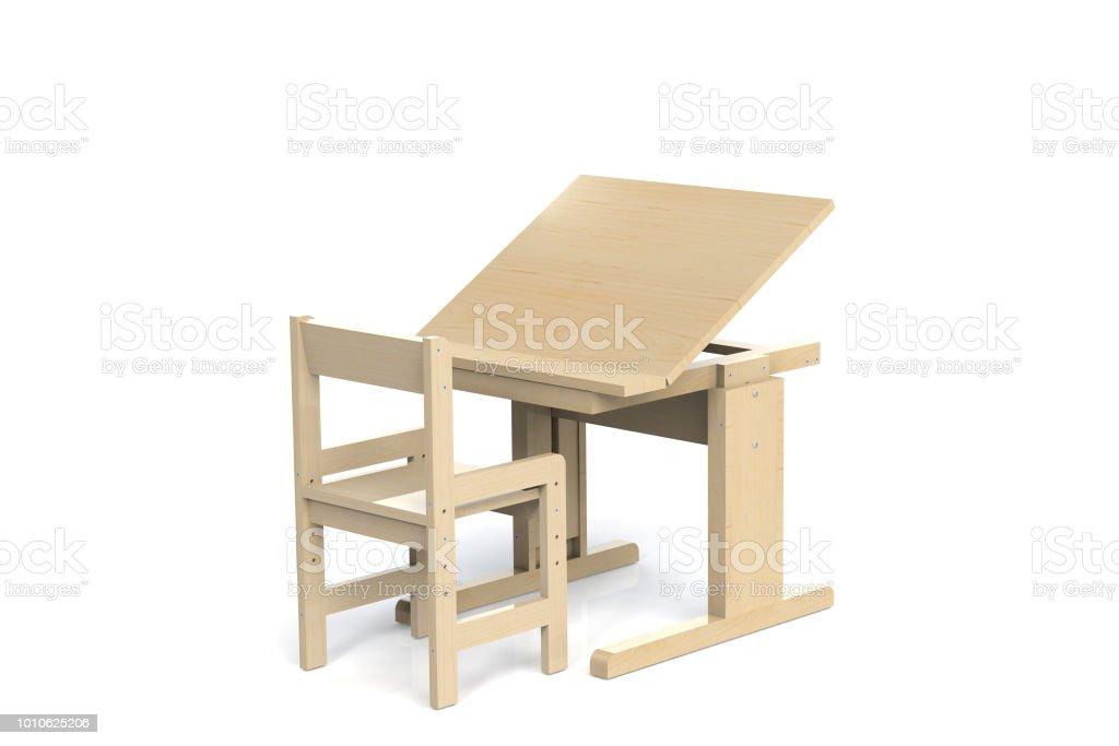 pour enfants petite table en bois et chaise bureau d cole avec r glable en hauteur et une chaise. Black Bedroom Furniture Sets. Home Design Ideas