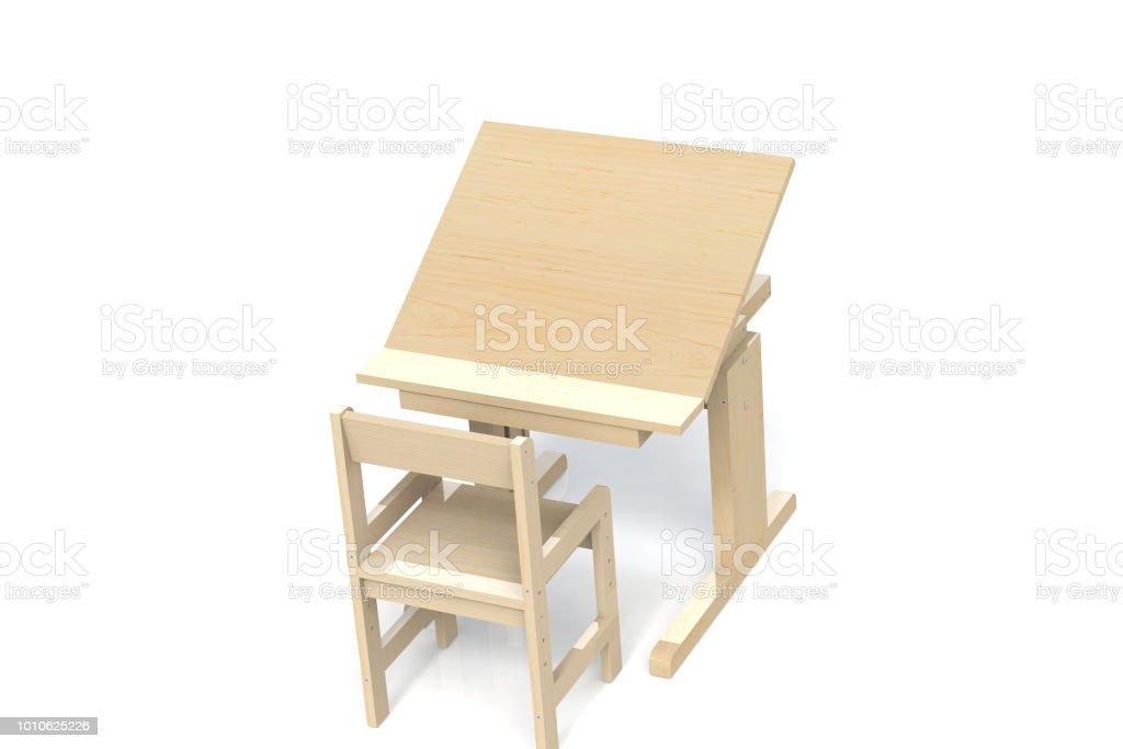 Pour Enfants Petite Table En Bois Et Chaise Bureau Decole Avec Reglable