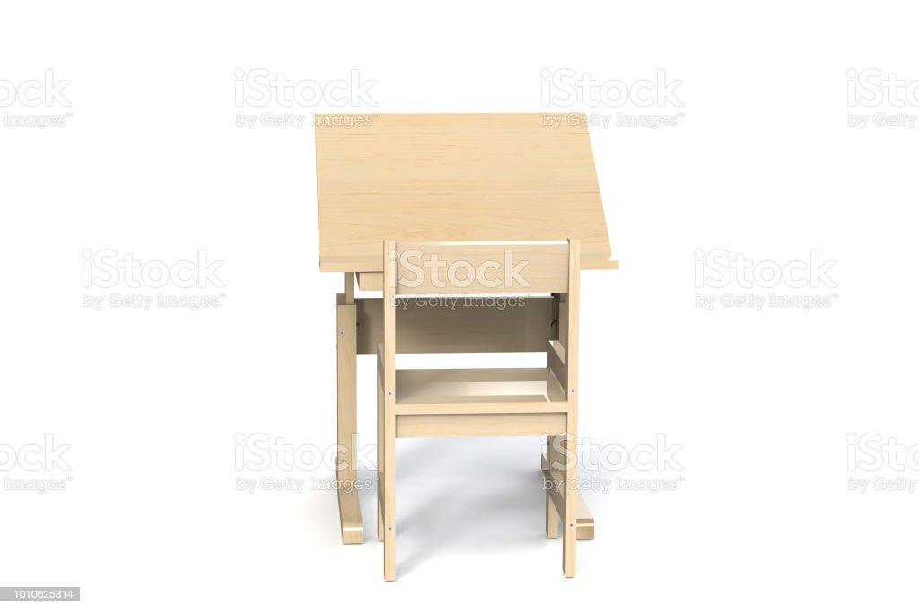 Et Chaise De Enfants Droit Bois Photo Libre Pour Table En Petite 1KclJFT