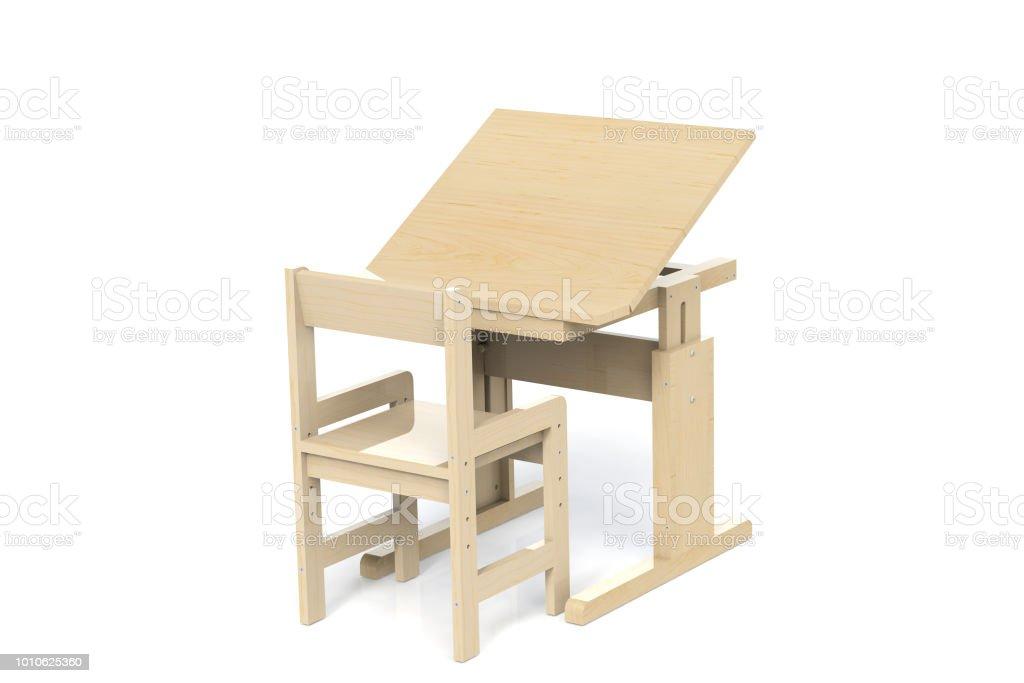 Bois Petite Table En De Et Pour Photo Enfants Libre Chaise Droit 4j5ALR