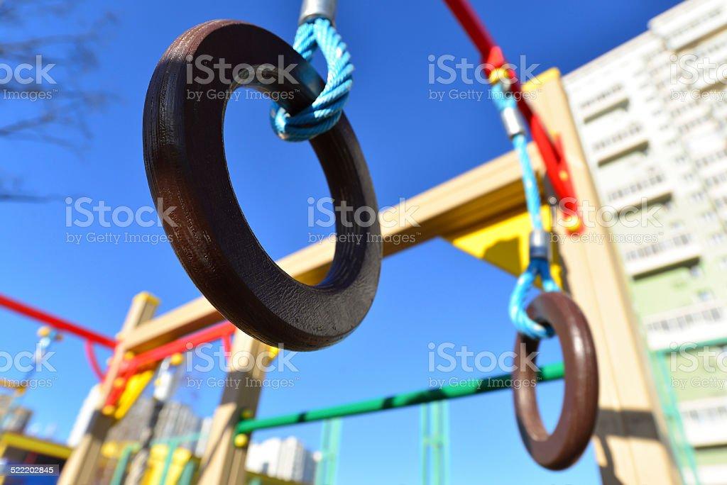 Children's sports complex outdoors stock photo