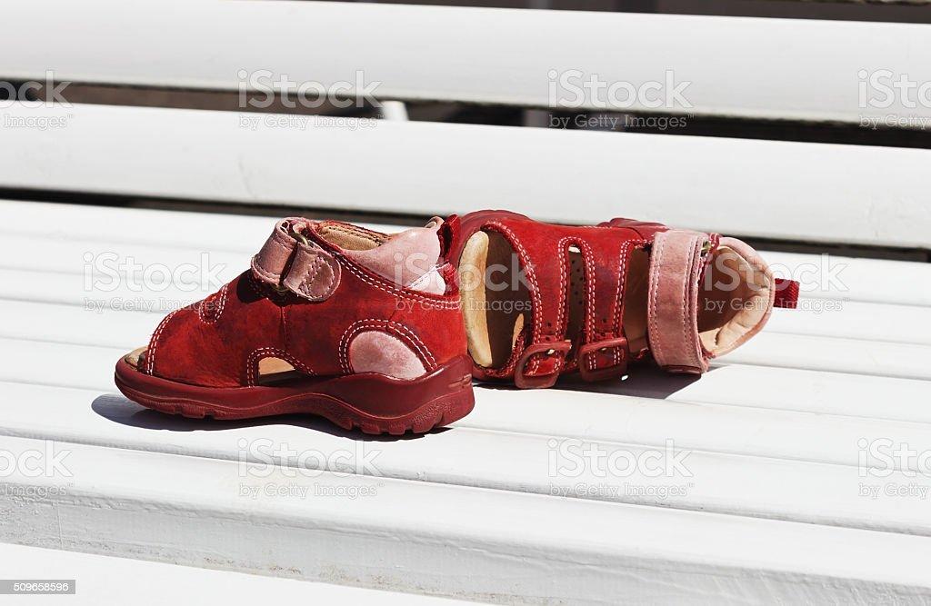 sandálias de verão infantil - foto de acervo