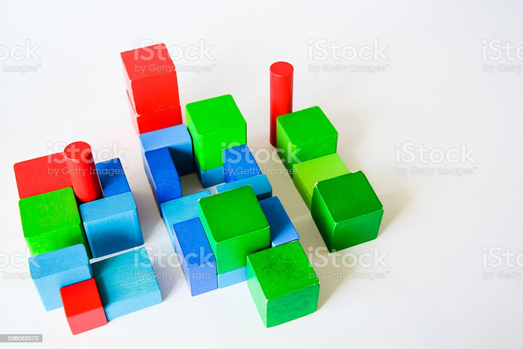 childrens toy cubes royalty-free stock photo