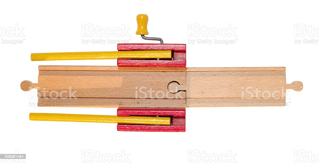 Childrens Toy Wooden Train Track Stock Photo - Download