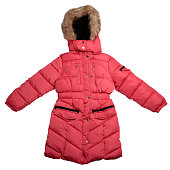 Children's  winter coat isolated on white background