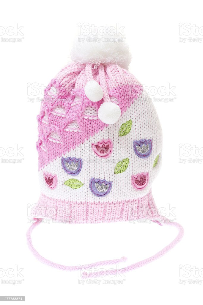 Children's winter hat isolated on white background royalty-free stock photo