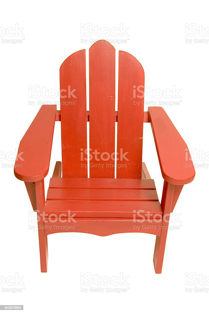 Child's Adirondack Chair stock photo