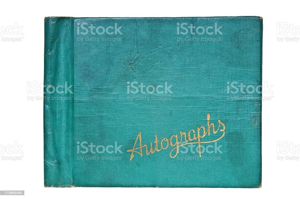 Child's Autograph Book From Fifties stock photo