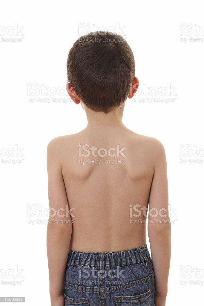 child's back stock photo