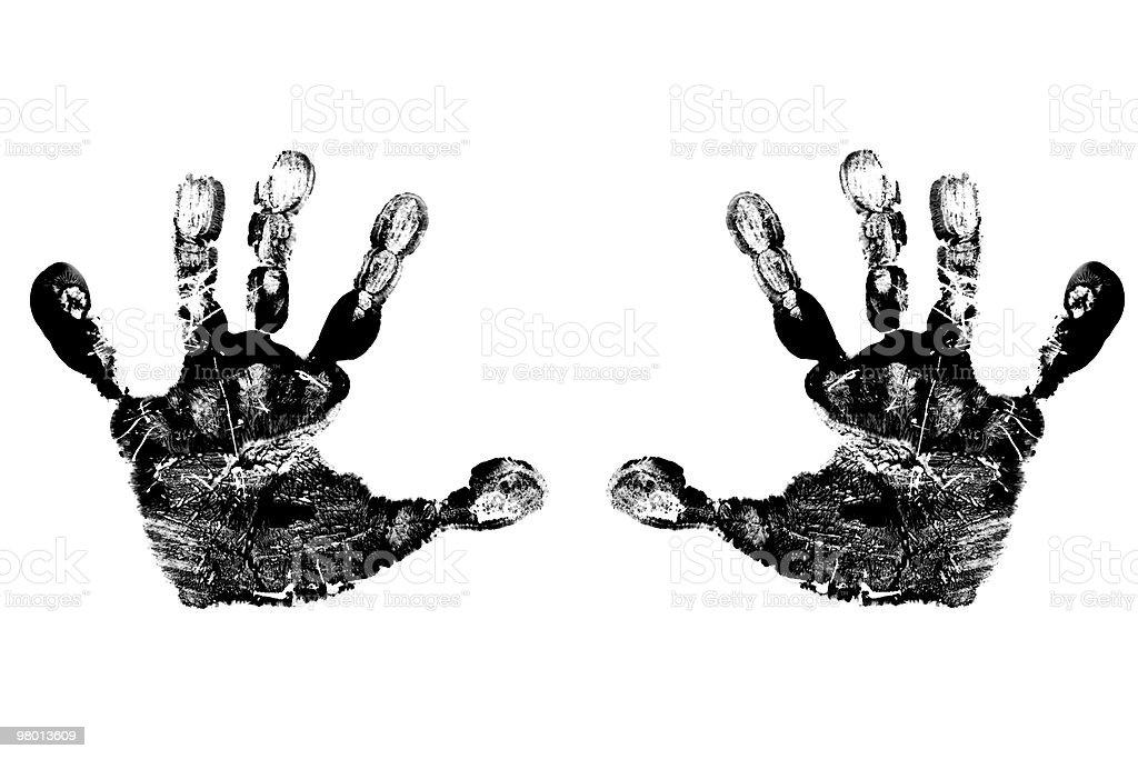 Criança preto mãos foto royalty-free