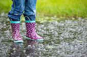 Dynamic woman's feet swimming in bubbly swirly water.