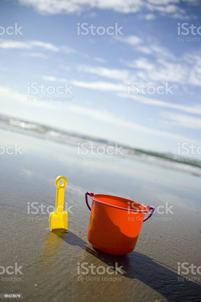 Childs bucket at an angle royalty-free stock photo