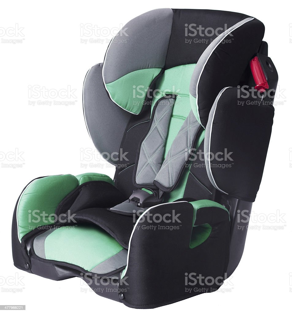 child's car seat isolated royalty-free stock photo