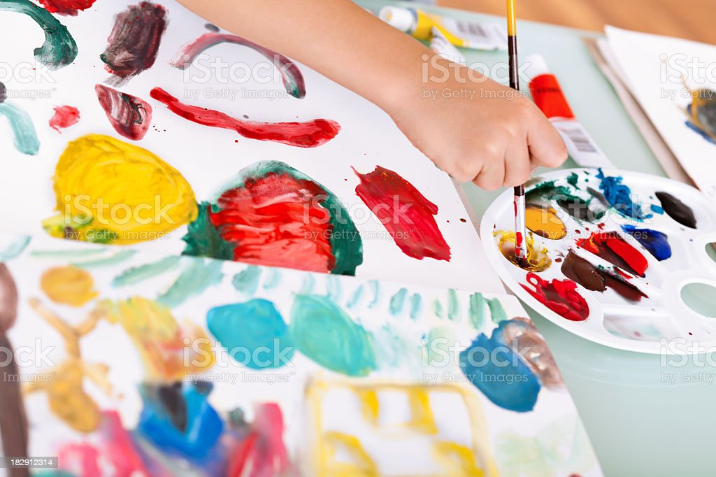 Child's creativity royalty-free stock photo