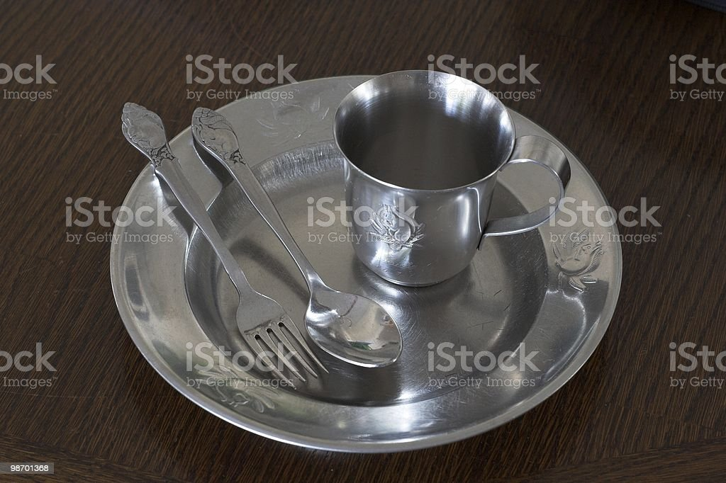 Childs Cutlery royalty-free stock photo