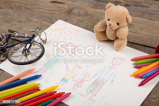 926151996istockphoto Child's drawing of a happy family 839875742