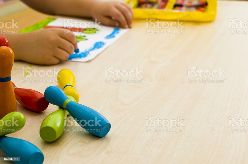 Child's drawing royalty-free stock photo