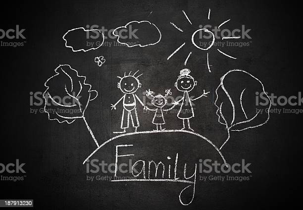 Childs drawing with chalk on school blackboard happy family picture id187913230?b=1&k=6&m=187913230&s=612x612&h=u8d ivb25bvjwv8s79mzummfwhp t3wmnxoma mxg0o=