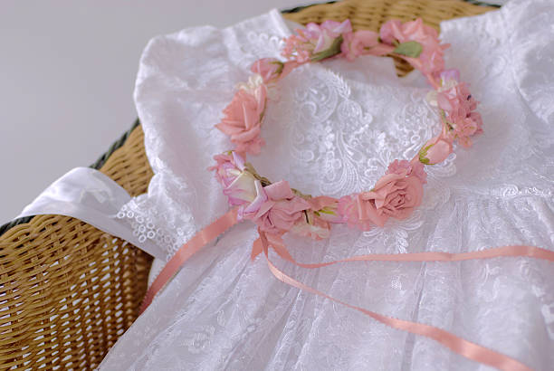 Childs dress and Wreath stock photo