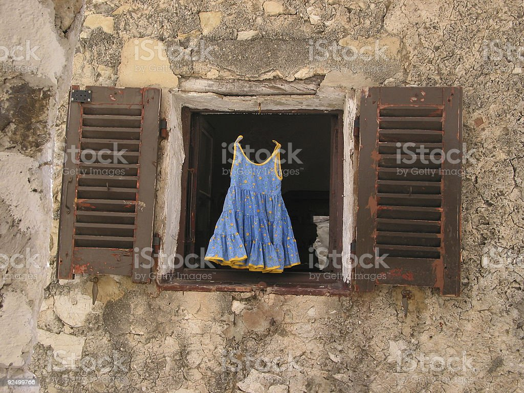 Childs dress for sale - spooky version royalty-free stock photo
