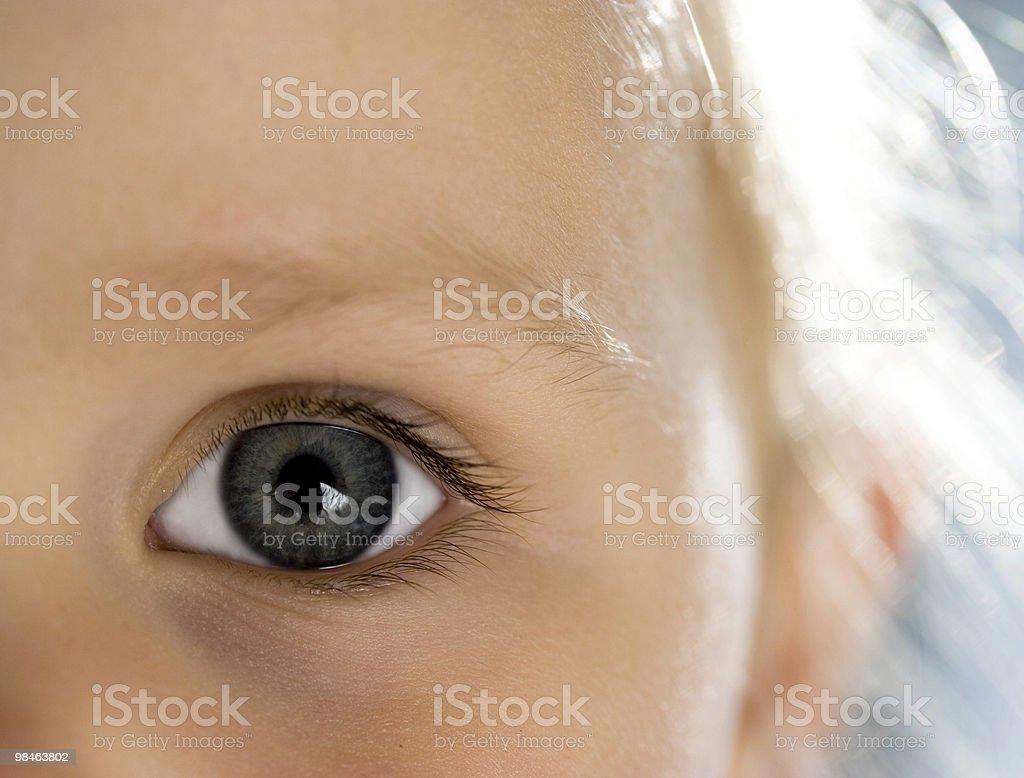 Child´s eye royalty-free stock photo