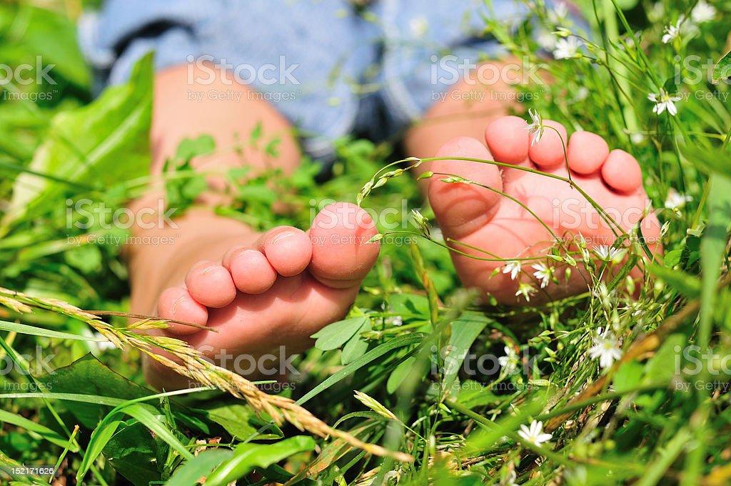 child's feet royalty-free stock photo
