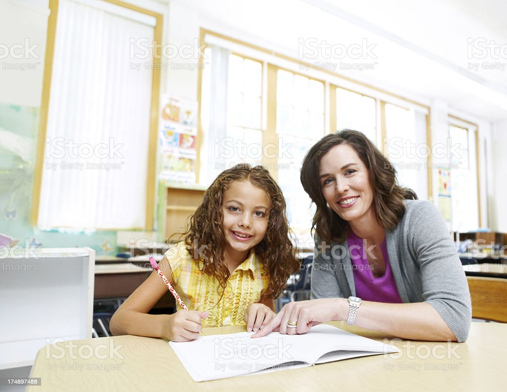 Child's formative years are important! stock photo